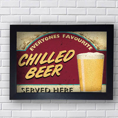 Quadro Vintage Chilled Beer