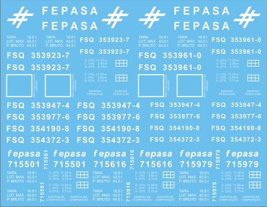 Fepasa-Vagão Metálicos FSQ série 353900, fases I e II-bitola 1,60m