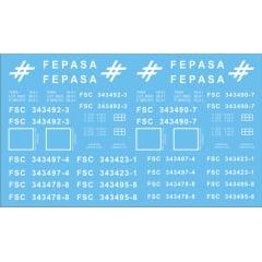 Vagões FSC série 343400  Fases I e II - bitola métrica