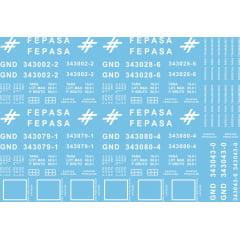 FEPASA  Gondola de fundo móvel GND  Fase II - bitola métrica