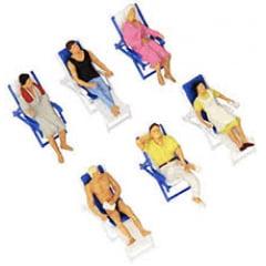 Pessoas Cadeira de Praia