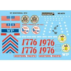Western Pacific Bicentennial GP40 Dieses 1976-1979