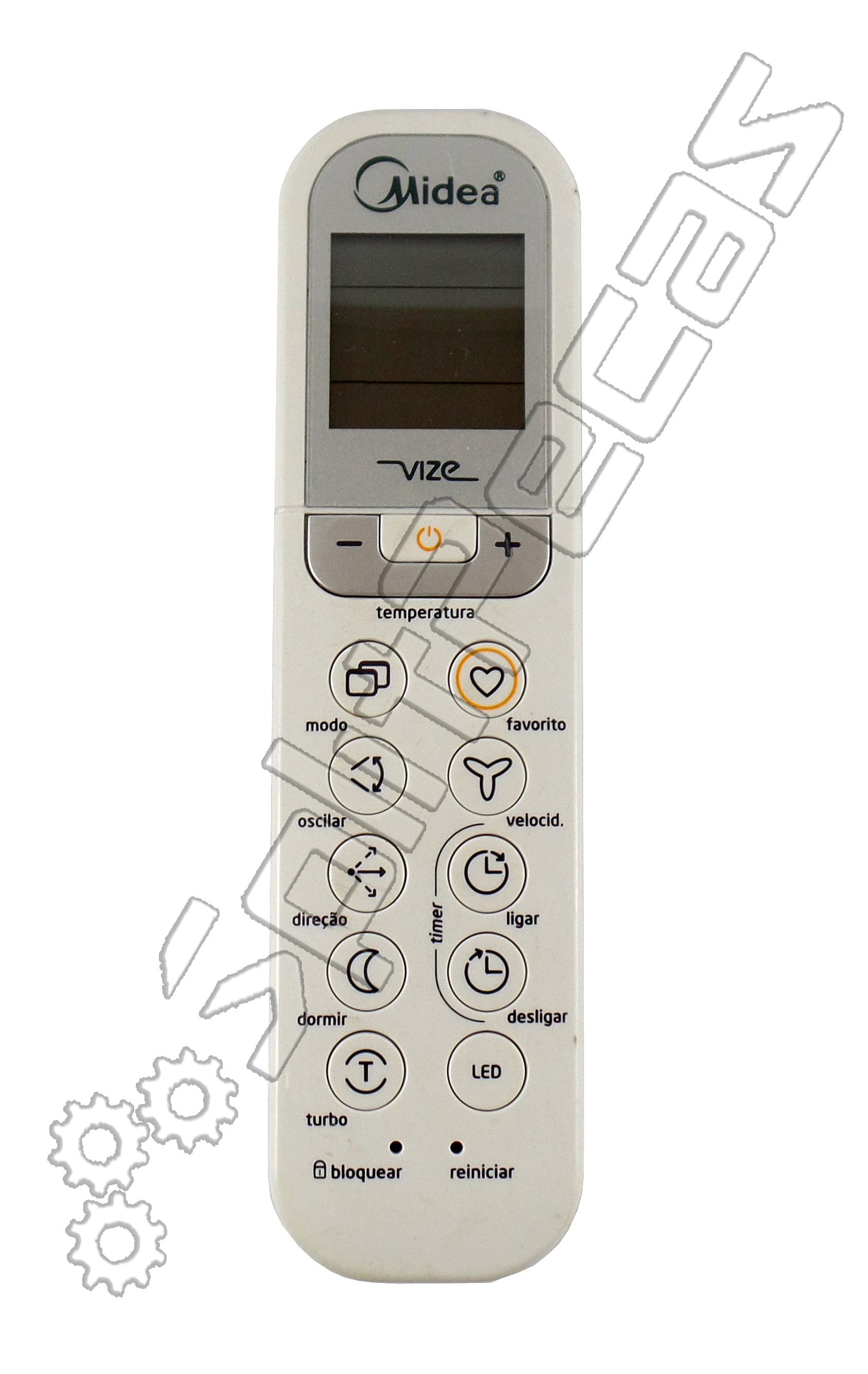 Controle Remoto do Ar Condicionado Midea Vize  9.000 a  24.000  Btus  06320056
