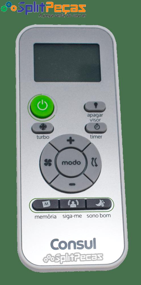 Controle Remoto para o Ar Condicionado Consul 7.000 a 30.000 Btus W10834938