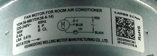 Motor da Condensadora Midea Luna