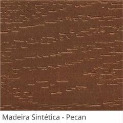 Persiana Horizontal 50mm Madeira Sintética com Ranhuras