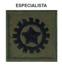 Distintivo de Especialista Bordado com Velcro