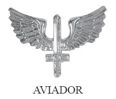 Distintivo de Gola de Metal de Aviador