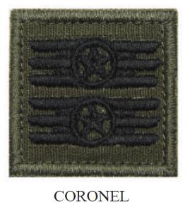 Insígnia de Coronel Bordada com Velcro
