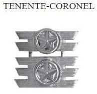 Insígnia de Tenente-Coronel Metálica