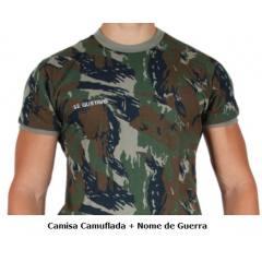 Camisa Camuflada Aeronáutica + Nome de Guerra