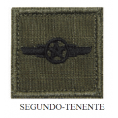 Insígnia de 2º Tenente Bordada com Velcro
