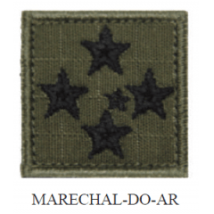 Insígnia de Marechal-do-Ar Bordada com Velcro