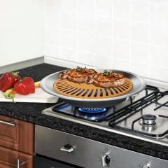 Churrasqueira Para Fogão Com Grelha Antiaderente de Cerâmica e Titânio - Stovetop Grill