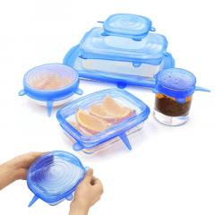 Tampas de Silicone Universais Reutilizáveis para Vedar e Proteger Alimentos - Silicone Sealing Lids