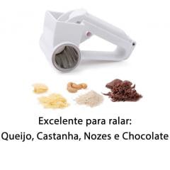 Ralador Portátil com Manivela – Para Queijo / Castanhas / Nozes / Chocolate