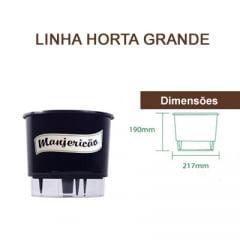 Horta Orgânica (Composta por: Kit Orgânico Para Plantio e Vaso Autoirrigável Raiz) - Grande - Linha Horta