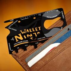 Cartão Multifuncional Ninja Wallet - 18 Utilidades