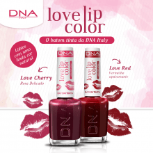 BATOM TINTA - LOVE LIP COLOR – KIT LOVE RED e LOVE CHERRY  – DNA ITALY
