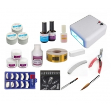KIT UNHA GEL ACRIGEL + CABINE UV 36W  + PORCELANA ACRÍLICA
